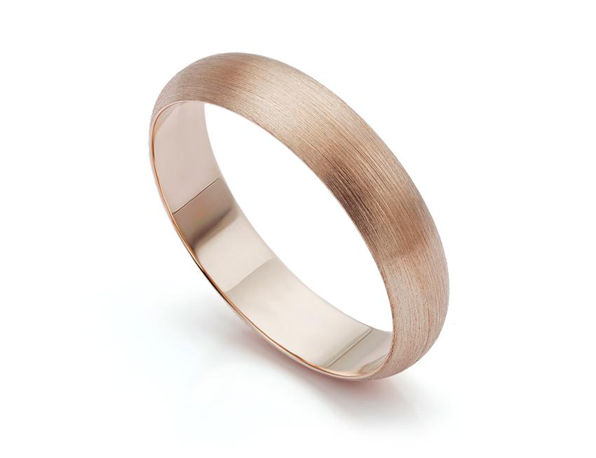 9ct Rose Gold Brushed Finish Wedding Ring