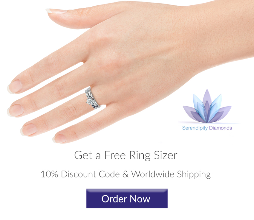 Order your free ring sizer from Serendipity Diamonds