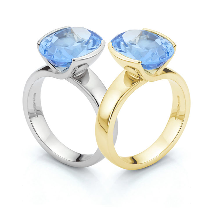 Aquamarine ring designs