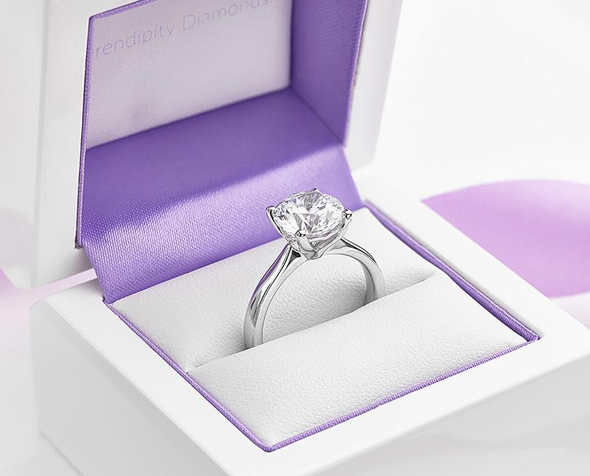 Lila shown with a large Swarovski Crystal looks like diamond.