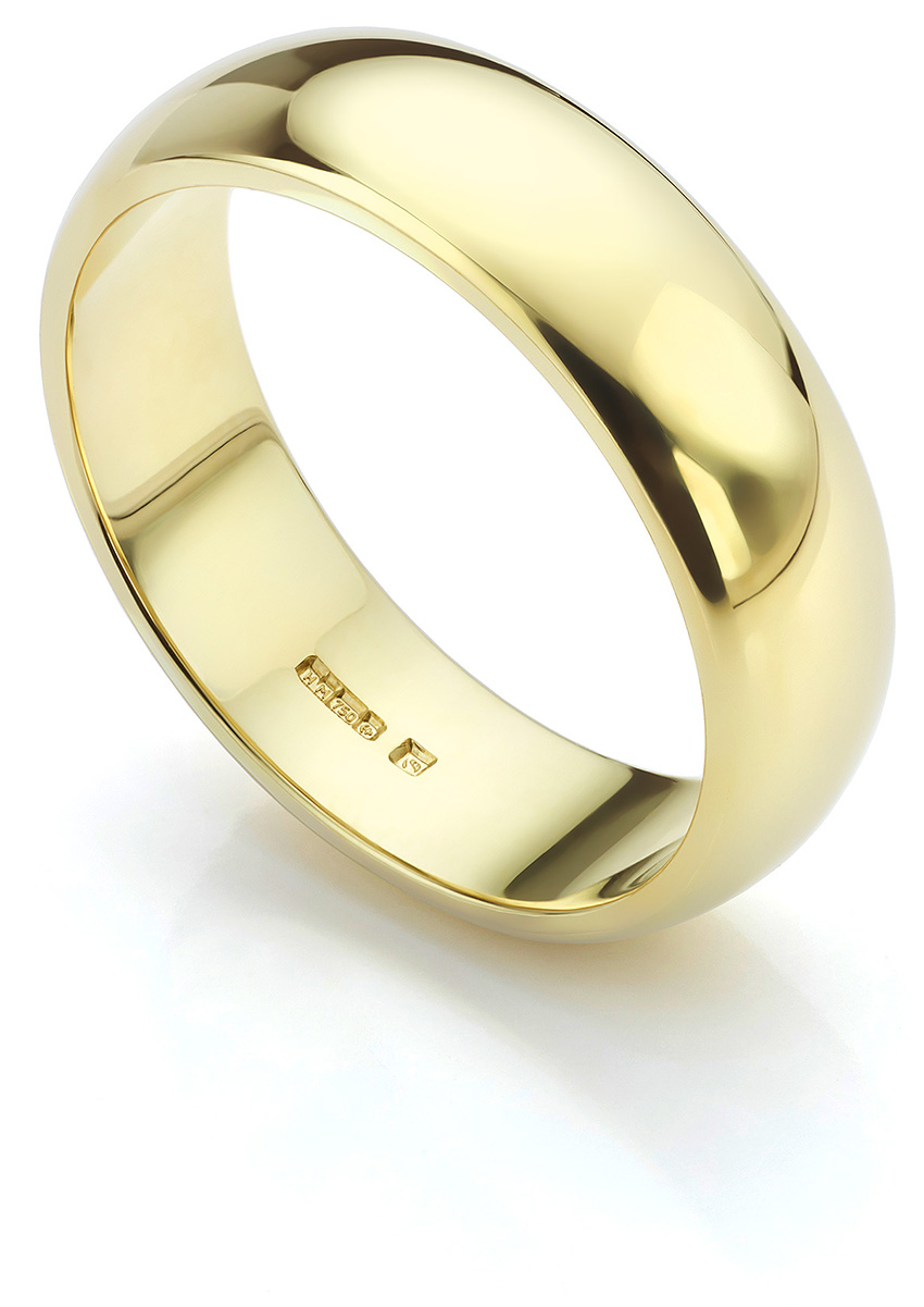 Fairtrade Yellow Gold Men's Wedding Ring