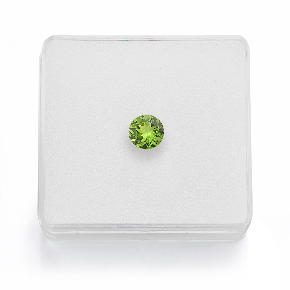 Peridot birthstone for August as a loose gemstone