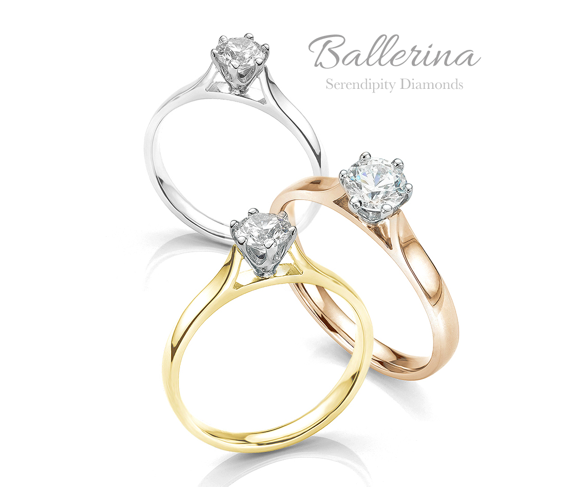Ballerina crown styled wedding ring friendly engagement ring
