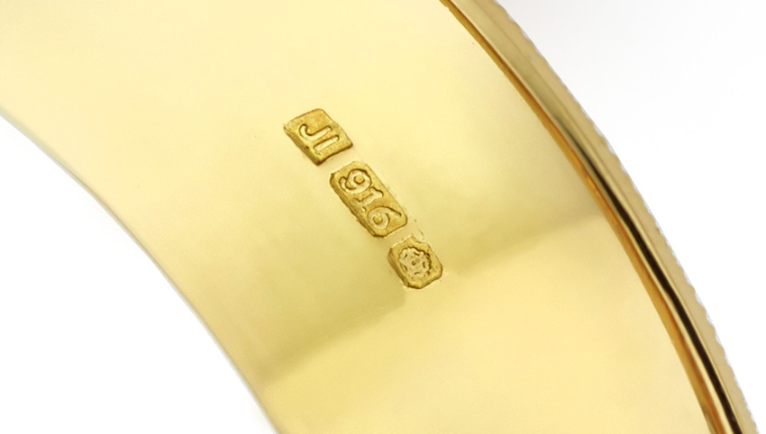 916 Gold Hallmark for 22ct Gold