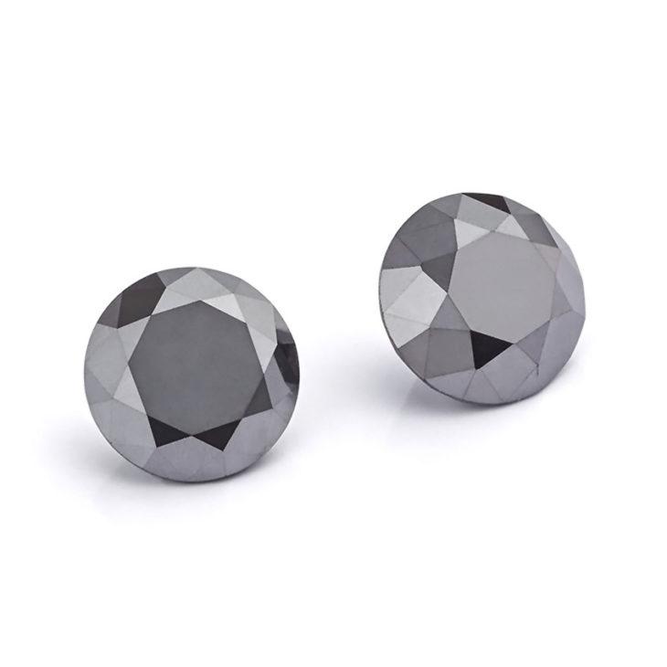 1 Carat pair of Black Diamonds