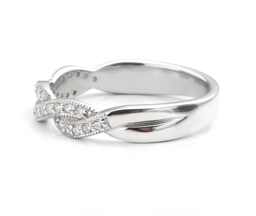 Twist diamond eternity ring
