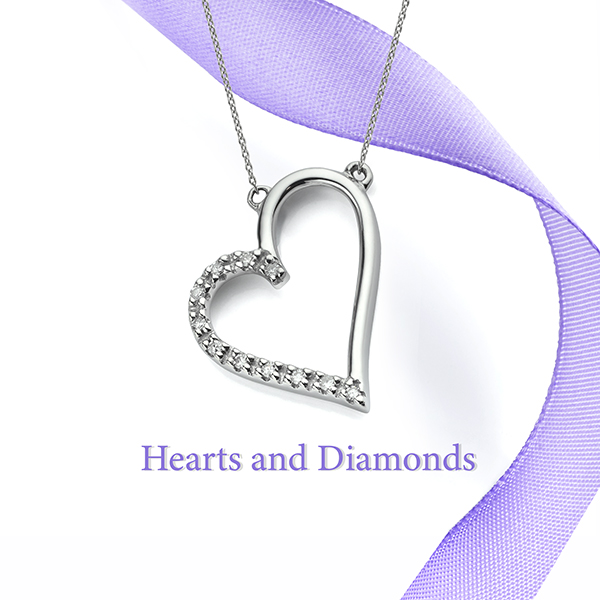 Heart and Diamond Necklace