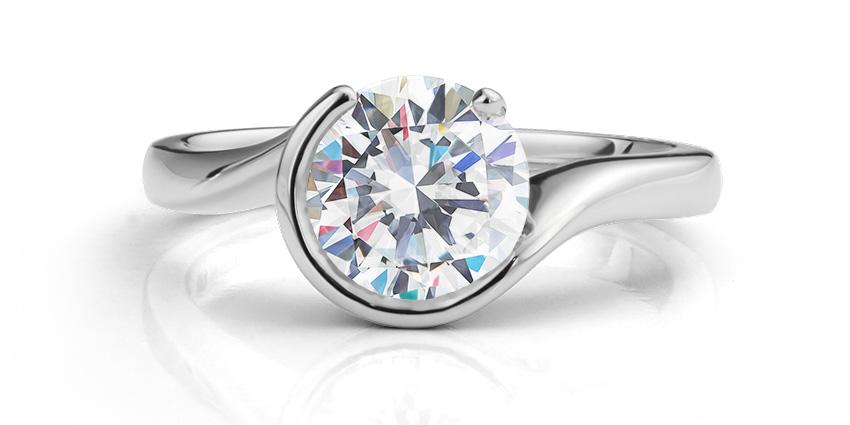 Lab-grown diamond engagement ring