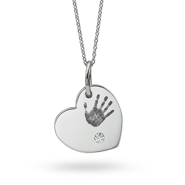 Handprint push present necklace