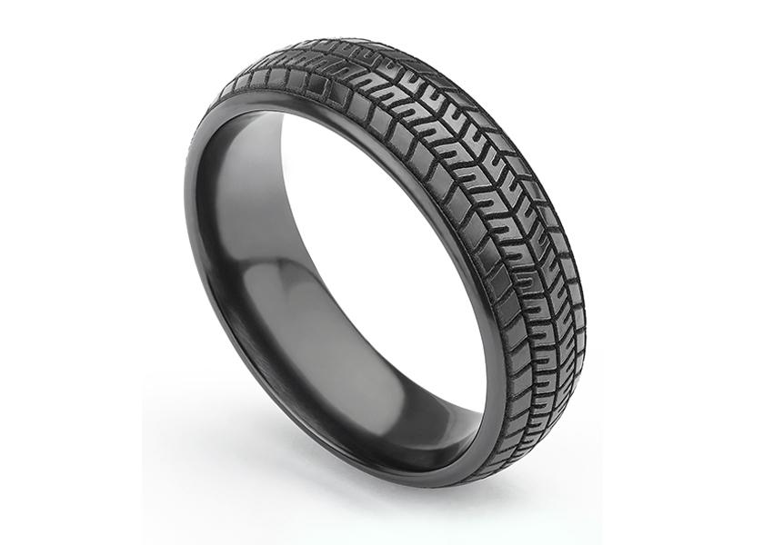 Black Tyre Wedding Ring