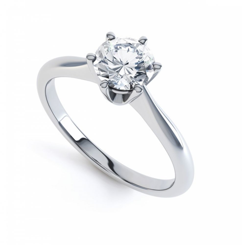 Millie Traditional 6 Claw Diamond Solitaire Engagement Ring