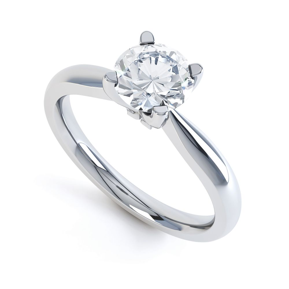 Solstice Style Four Claw Solitaire Engagement Ring