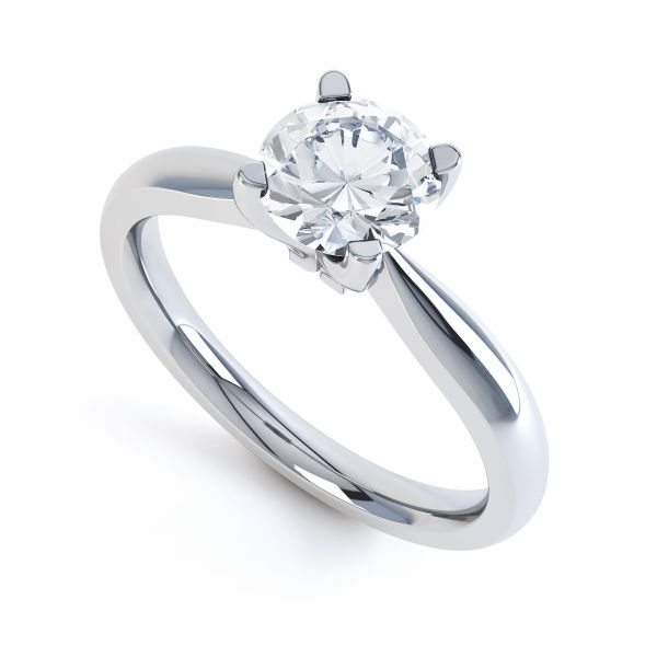 Solstice 4 Claw Solitaire Engagement Ring Main Image