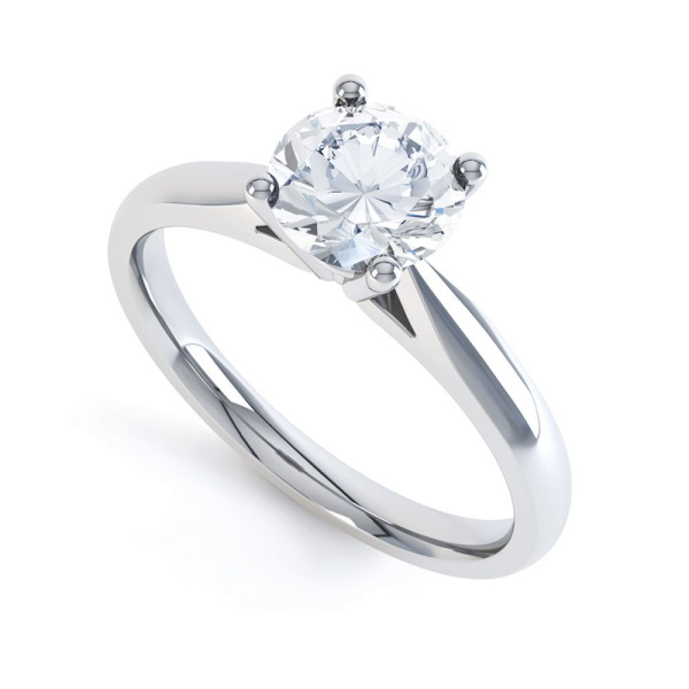 Harmony modern four claw diamond solitaire engagement ring