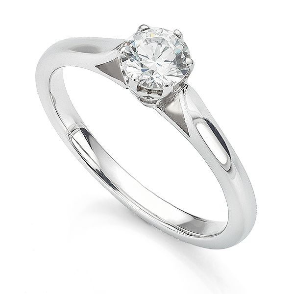 Beatrice 6 Claw Crown Setting Engagement Ring Main Image