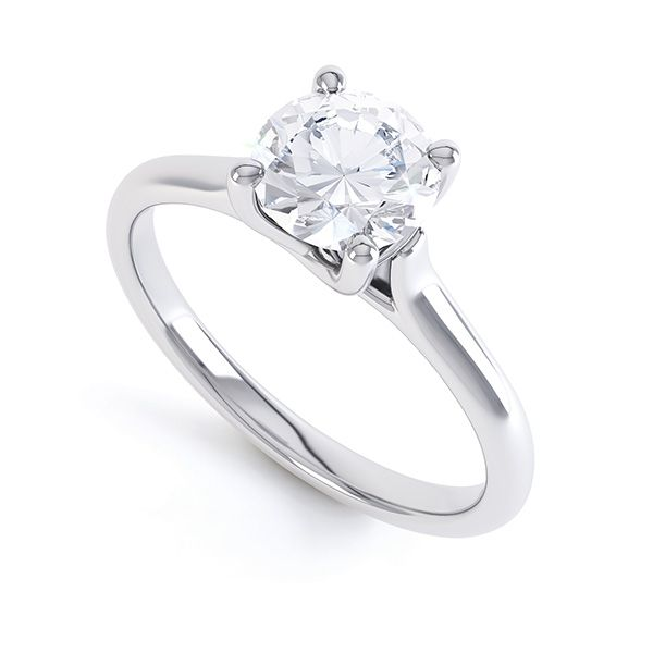 Sirius Round 4 Claw Solitaire Engagement Ring Main Image