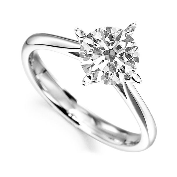 Stellar 4 Claw Solitaire Engagement Ring Main Image