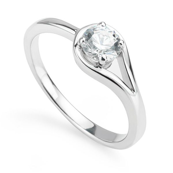 Willow Looped Design Engagement Ring Main Image