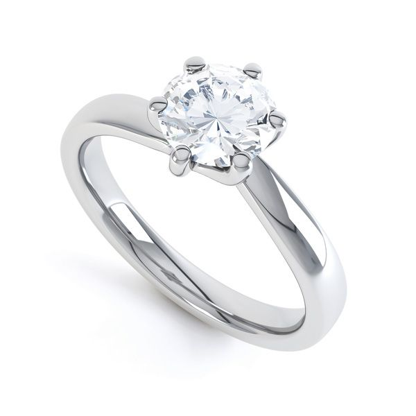 6 Claw Twist Engagement Ring Main Image