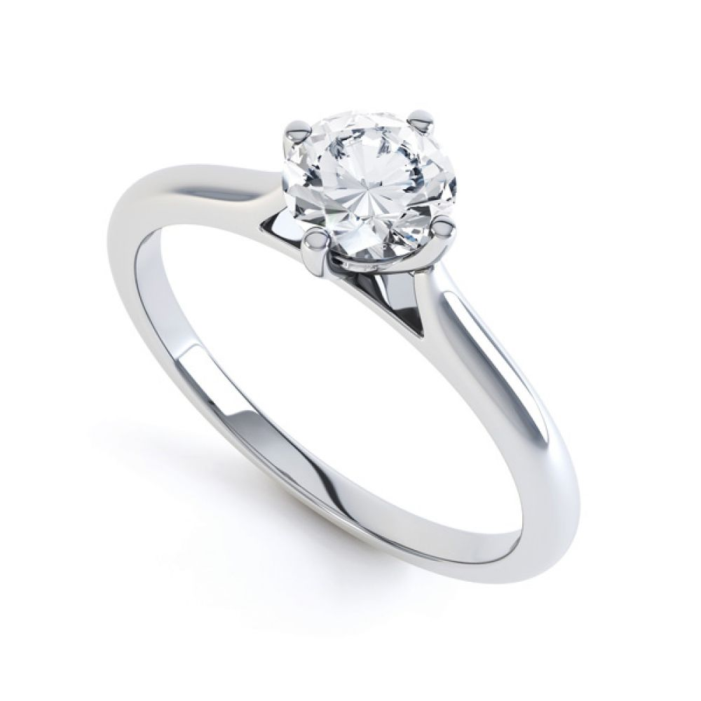 Diamond Accent 4 Claw Solitaire Engagement Ring