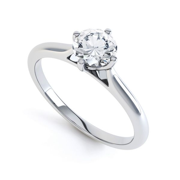 Diamond Accent 4 Claw Solitaire Engagement Ring Main Image