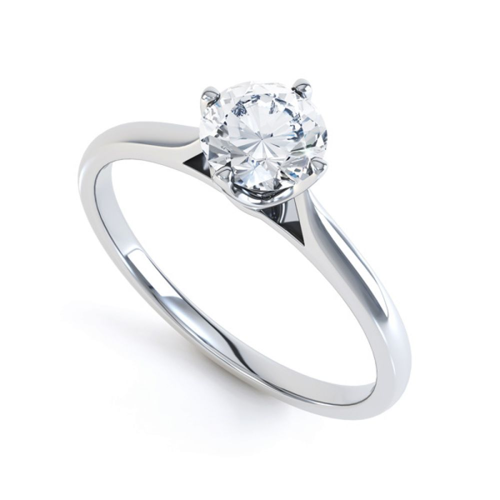 4 Claw Wedfit Compass Set Solitaire Ring