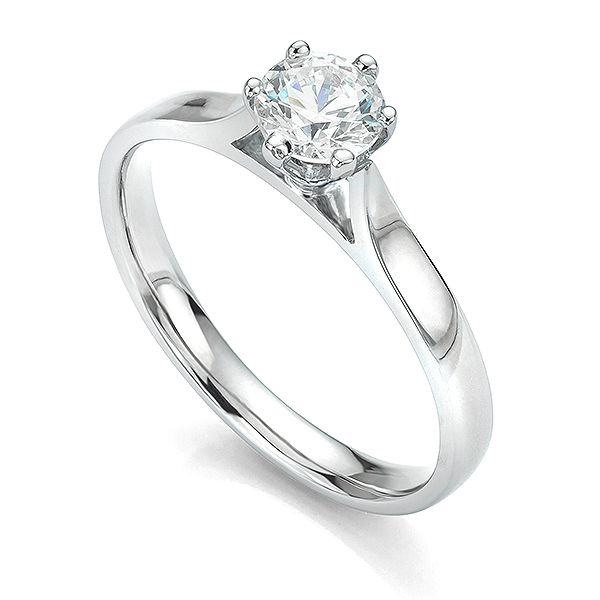Ballerina 6 Claw Solitaire Engagement Ring Main Image