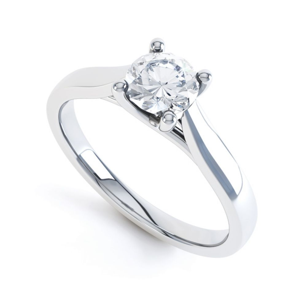 Wedfit Lucida Style Round Solitaire Engagement Ring
