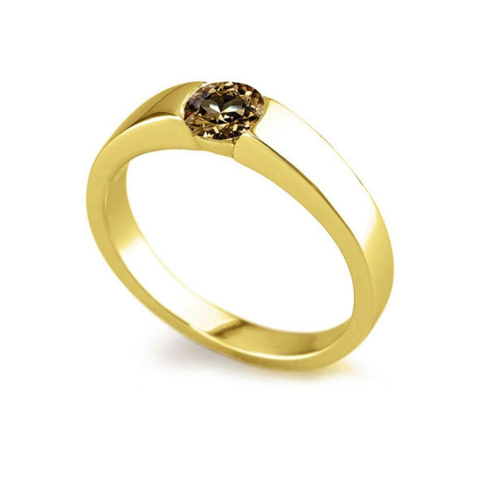 Natural Brown Diamond Tension Ring