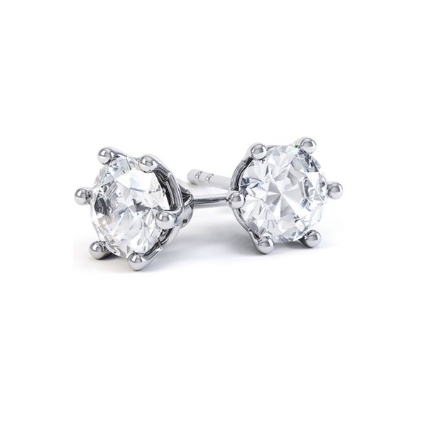 6 Claw Round Stud Earrings Main Image