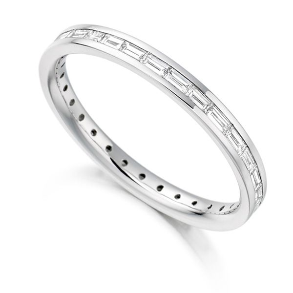 0.60cts Baguette Cut Diamond Full Eternity Ring Main Image