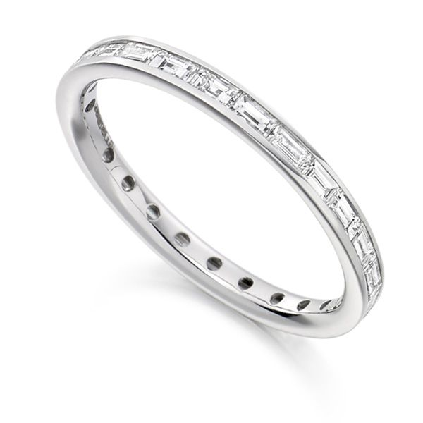 0.75cts Baguette Diamond Full Eternity Ring Main Image