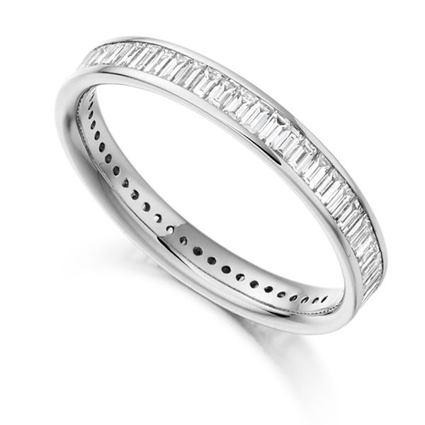1.05cts Baguette Diamond Full Eternity Ring Main Image