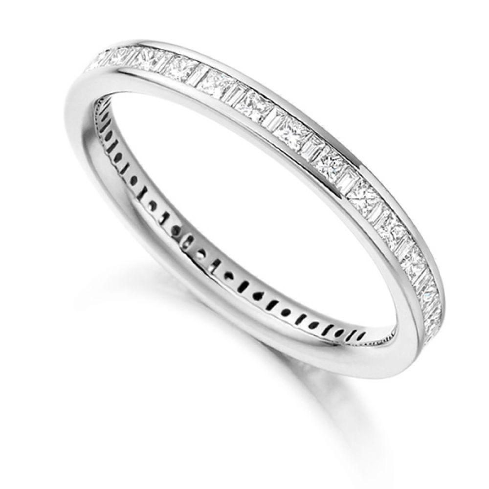 1 Carat Baguette and Princess Diamond Full Eternity Ring