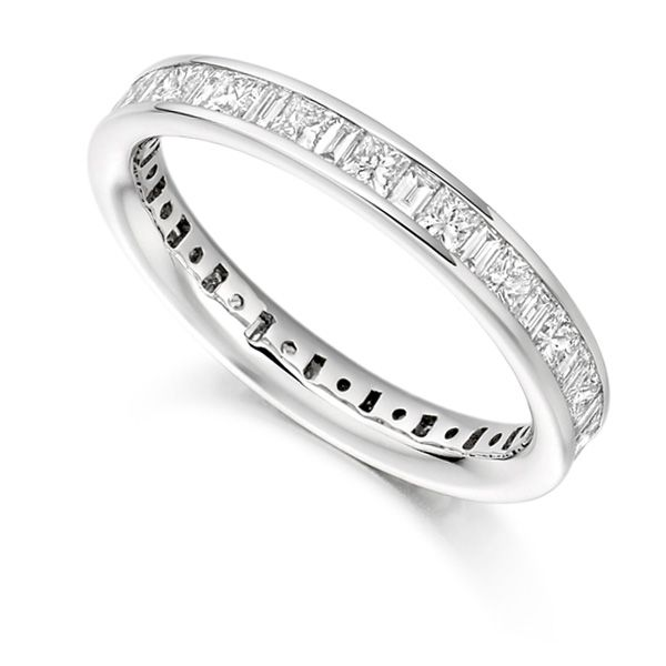 1.5 Carat Princess & Baguette Eternity Ring Main Image