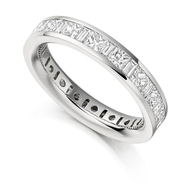 3 Carat Princess & Baguette Diamond Full Eternity Ring Main Image