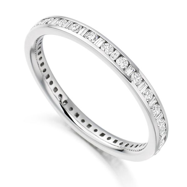 0.5 Carat Baguette & Round Diamond Eternity Ring Main Image