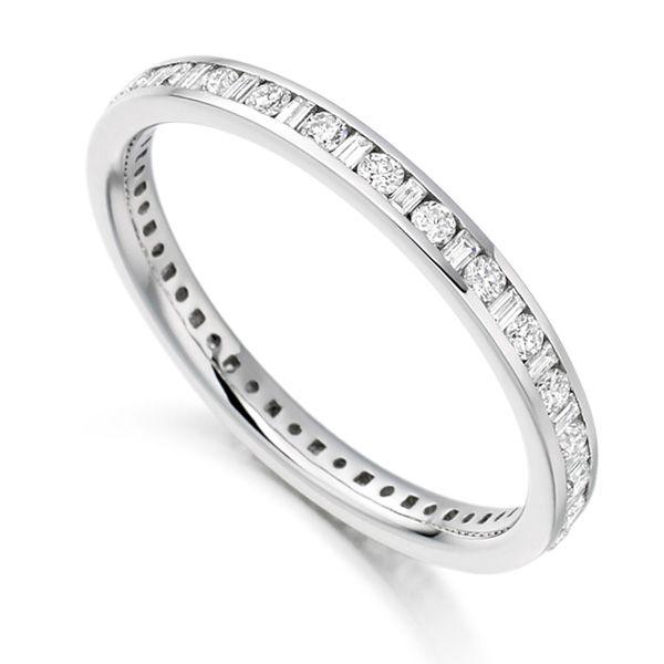 0.5 Carat Baguette & Round Diamond Eternity Ring Main Image