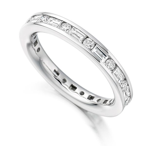 Baguette and Round Diamond Eternity Ring Main Image