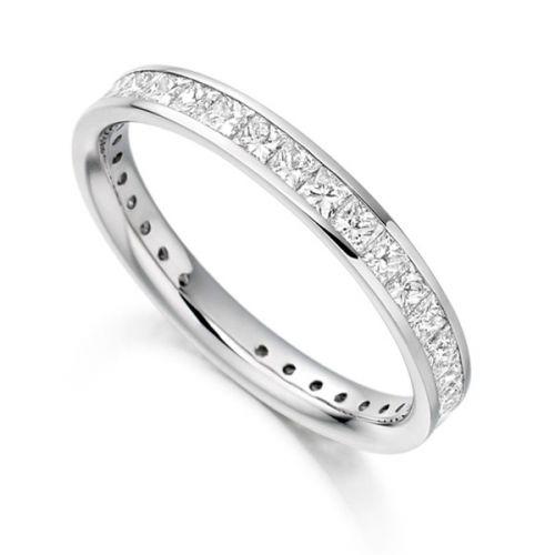 Princess Cut Eternity Rings