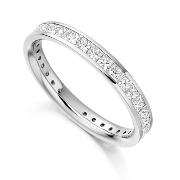 1.30cts Princess Cut Diamond Full Eternity Ring Main Image
