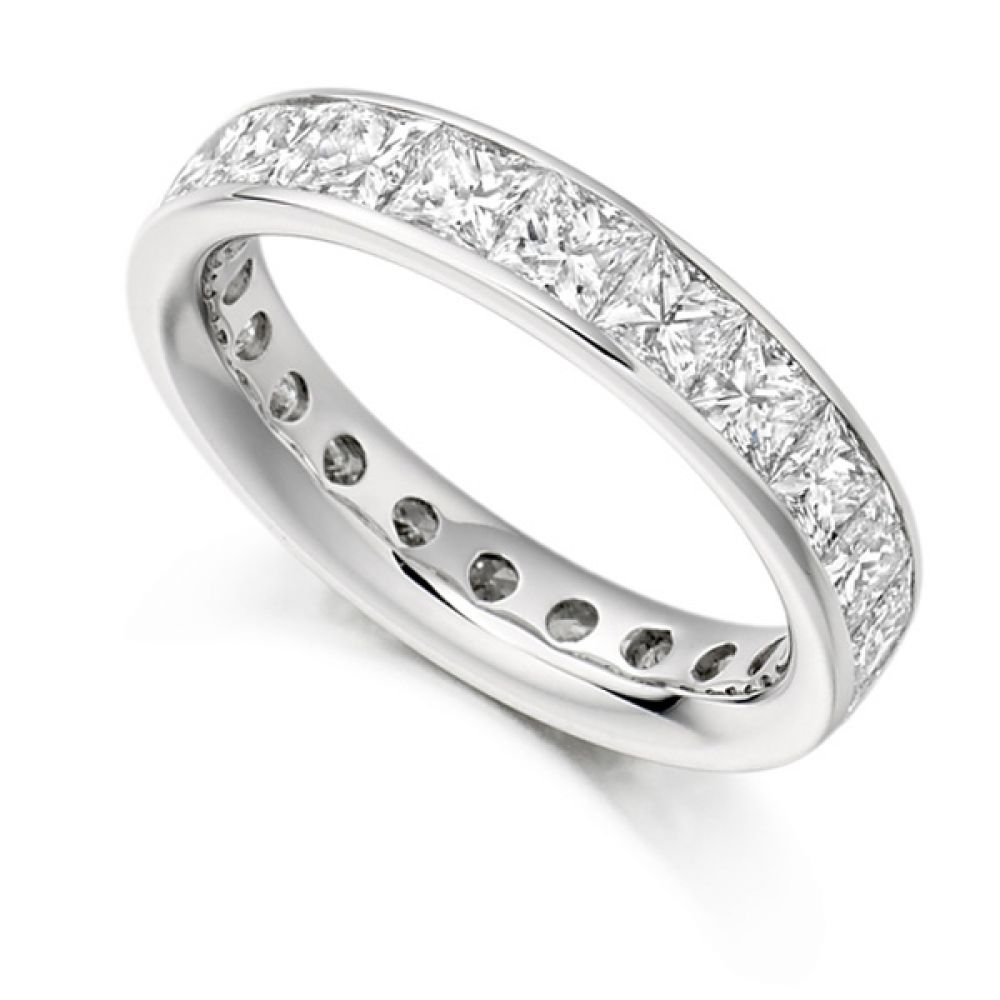 3.30 Carat Princess Cut Diamond Full Eternity Ring