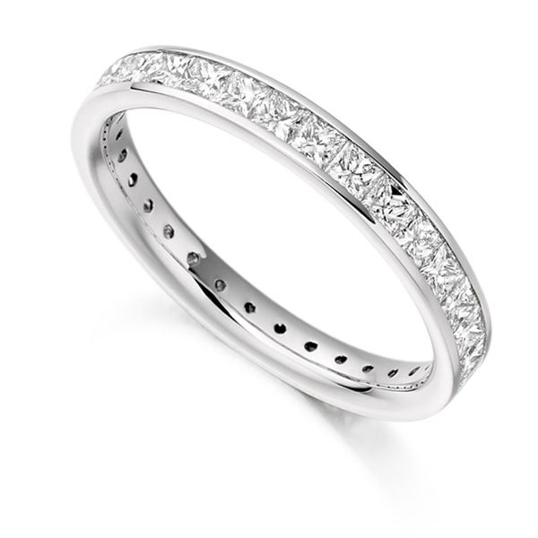 1.60cts Princess Diamond Full Eternity Ring Main Image