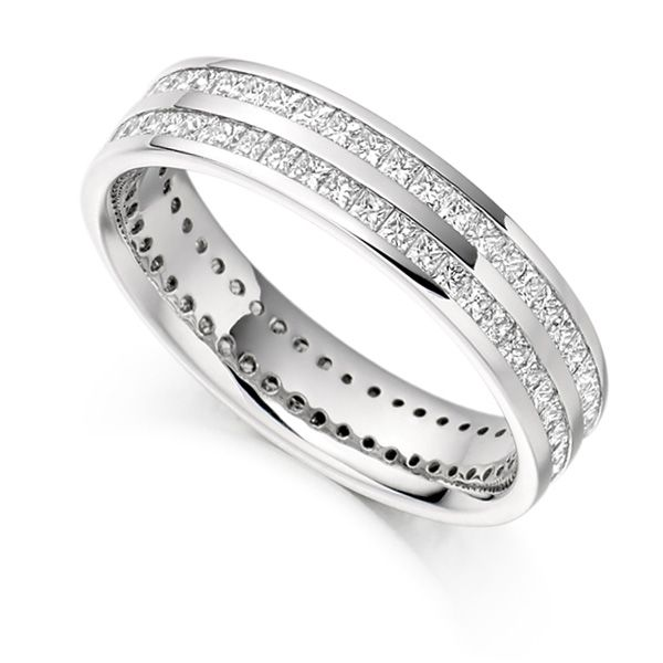 1.50cts Full Diamond Eternity Ring with Double Channel Main Image