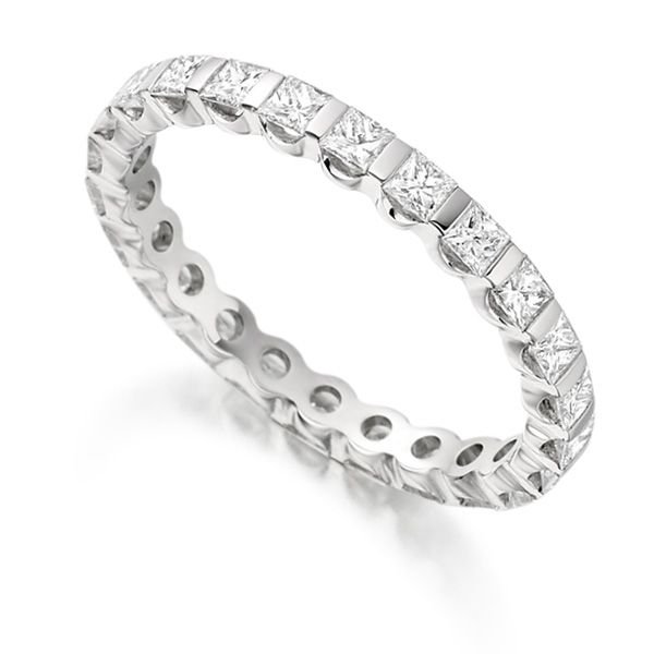 1 Carat Bar Set Full Diamond Eternity Ring Main Image