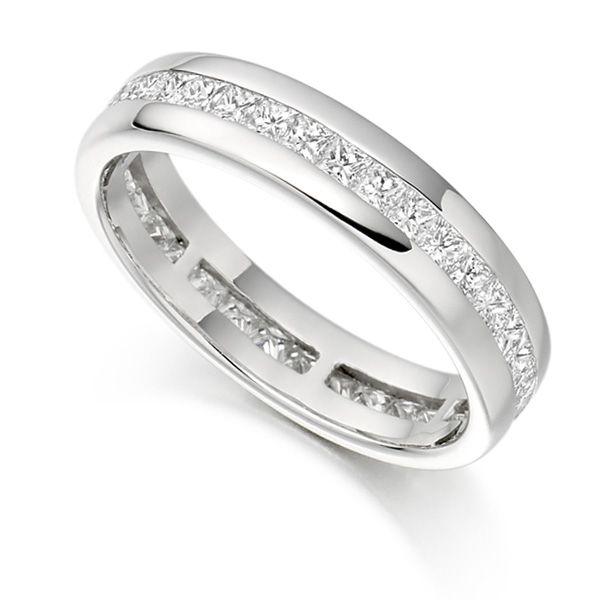 1 Carat Princess Diamond Eternity Ring Channel Set Main Image