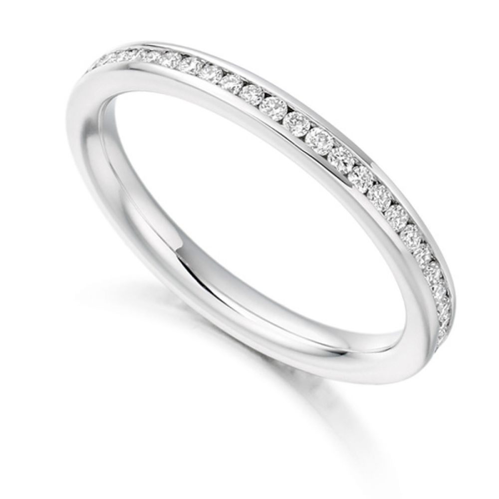 0.41cts Round Diamond Full Eternity Ring Channel Set