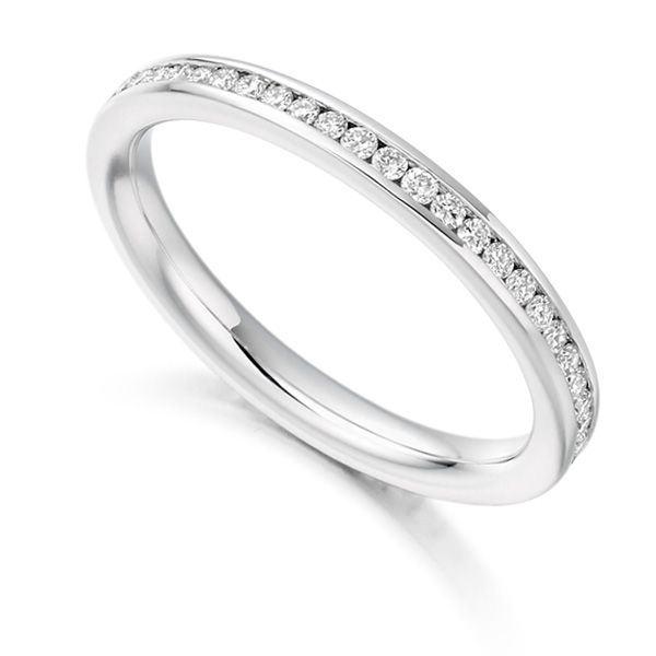 0.41cts Round Diamond Full Eternity Ring Channel Set Main Image