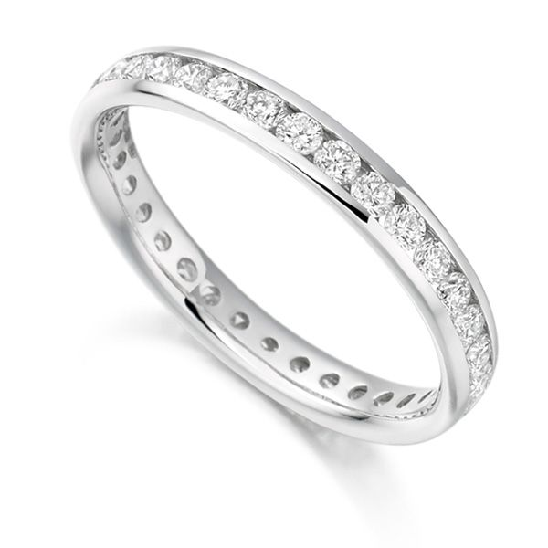 0.90cts Round Diamond Full Eternity Ring Channel Set Main Image