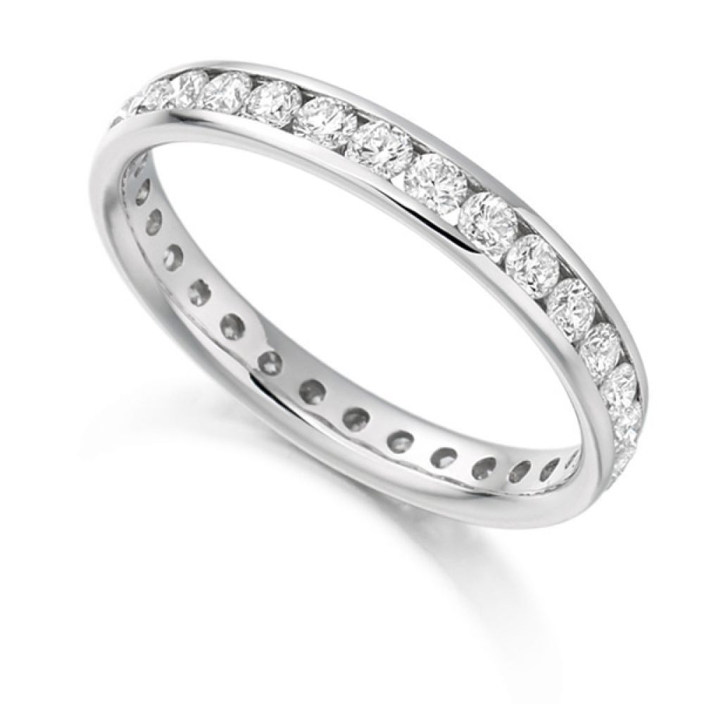 1 Carat Round Brilliant Full Diamond Eternity Ring